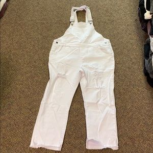 NWT Olivaceous white denim overalls